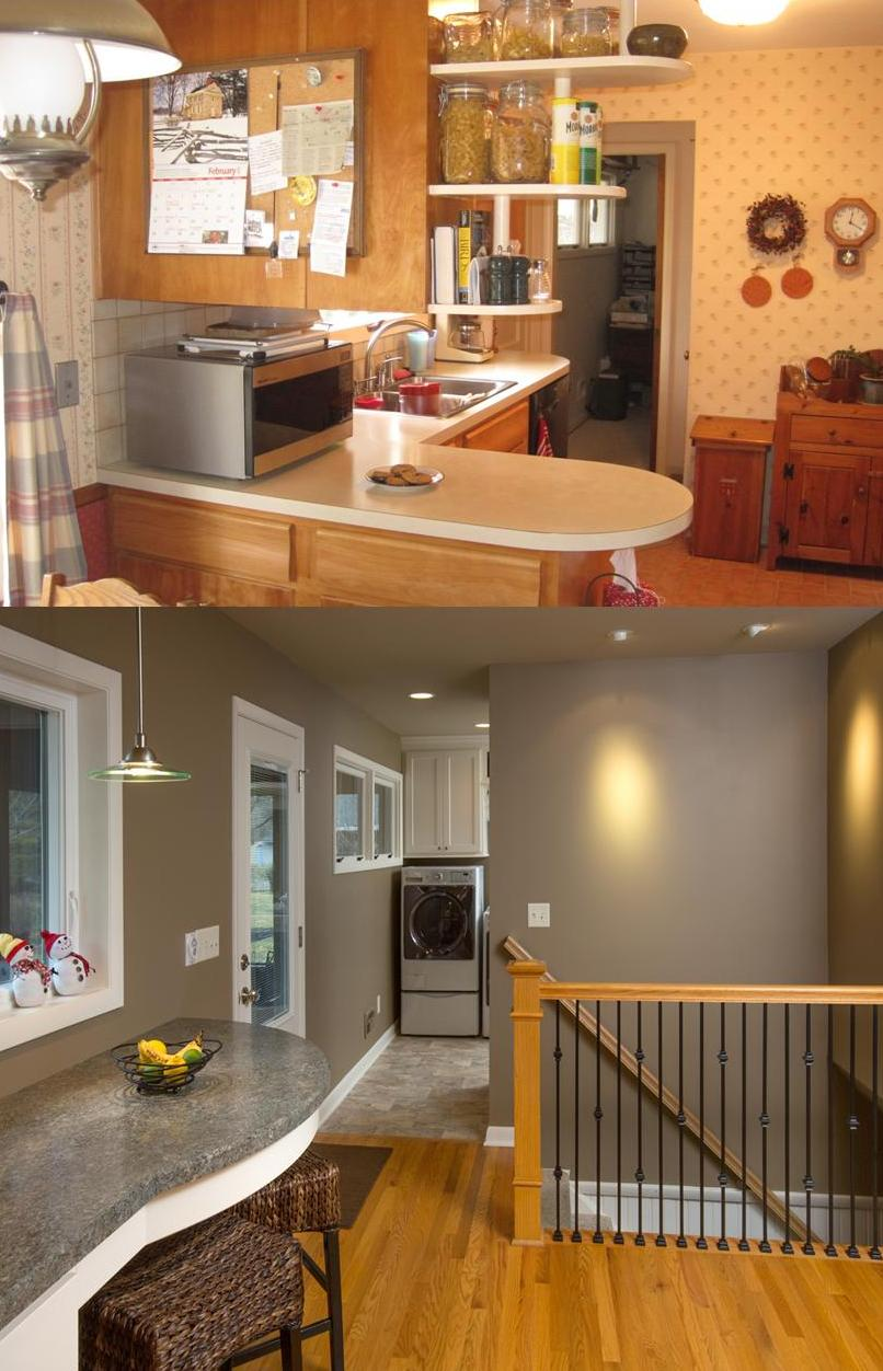 Before after gallery the cleary company for Before and after home remodel