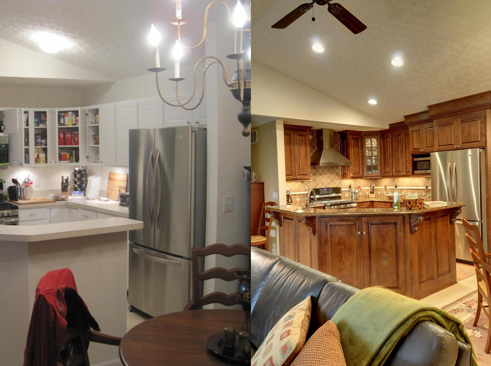 Before And After Open Concept Kitchen Remodel In Columbus By The Cleary Company