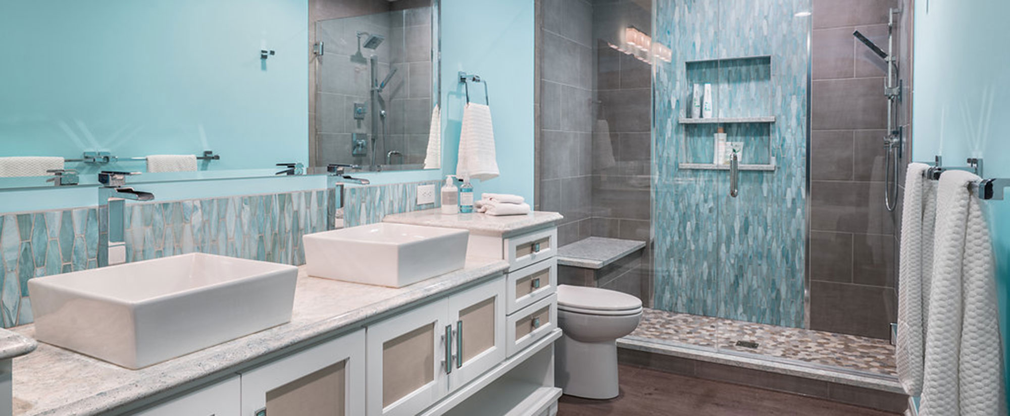 Surprising 3 Master Bathrooms Remodels 3 Budgets Scopes The Cleary Home Interior And Landscaping Oversignezvosmurscom